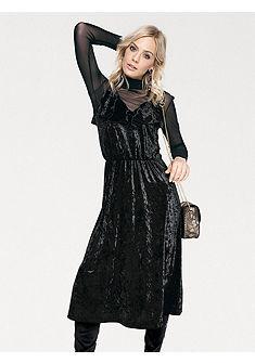RICK CARDONA by heine Zamatové šaty s elastickým pásom