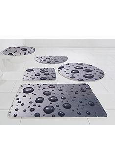 Koupelnová předložka, půlkruh, my home Selection, »Wassertropfen«, výška 14 mm, paměťová pěna