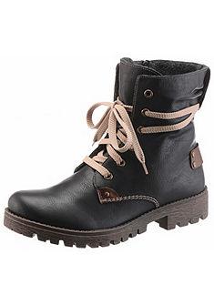 Rieker Šnurovacie topánky vysoké s doplnkami