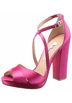 Nina Páskové sandály na klinovém podpatku