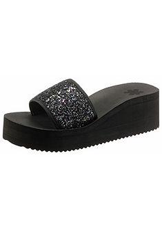Flip Flop Šľapky s plným podpätkom »Pool Wedge Glitter«