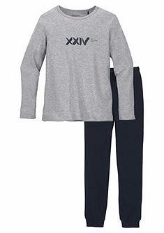 Schiesser hosszú fiú pizsama, nyomott mintával