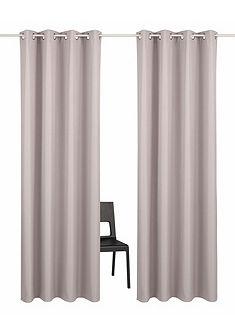 Záclona, My Home Selection »Amla« s očkami (2 ks) + obliečka na vankúš