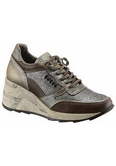 Cetti telitalpú sneaker cipő csillogó díszítéssel