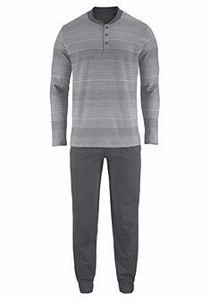 Schiesser Streifen Pyžamo dlouhé s postranními kapsami
