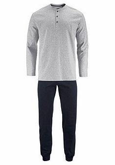 Schiesser Pánska pruhovaná dlhá pyžama s gombíkovou légou