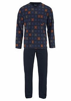 Ammann Pyžamo doulhé s kostkovaným vzorem
