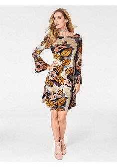 RICK CARDONA by heine Zamatové šaty s jemným leskom