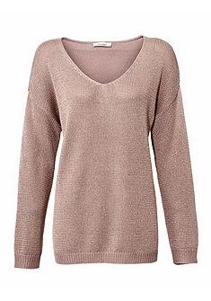LINEA TESINI by heine Ležérní pulovr s jemným leskem