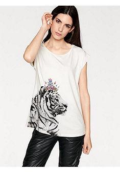 RICK CARDONA by Heine nyomott mintás póló ékszerkövekkel