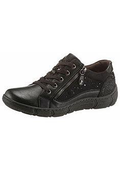 Relife fűzős cipő oldalán cipzárral és strassz kövekkel