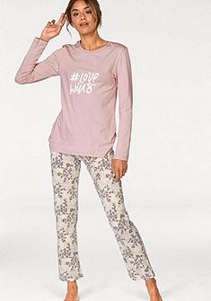 Skiny Pyžamo »Fading Sun« s květinovými kalhotami