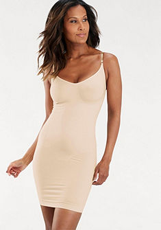 LASCANA Zeštíhlující šaty/spodnička s transparentními ramínky