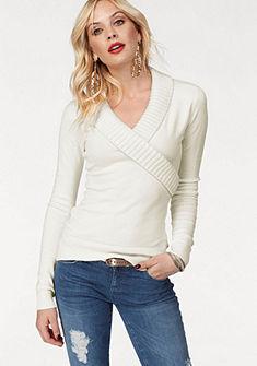 Melrose átlapolós pulóver