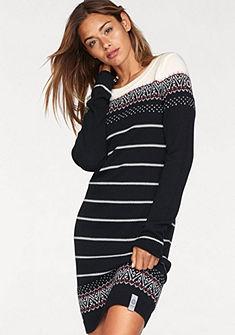 KangaROOS Pletené šaty s nórským vzorem