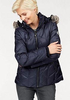 Danwear Péřová bunda s imitací kožešiny na kapuci