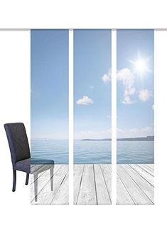 Panelový záves, Home Wohnideen »OZEAN« na suchý zips (3 ks bez príslušenstva)