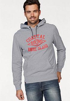 Rhode Island melírozott kapucnis pulóver