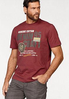 Man's World nyomott mintás póló díszítő varrással a vállán