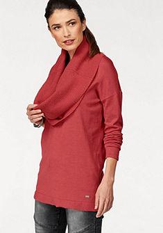 Laura Scott kereknyakú pulóver körsállal bordázott varrással