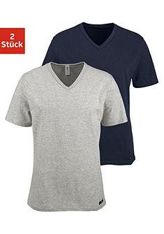 H.I.S Tričko s dlhými rukávmi (2 ks) z bavlny