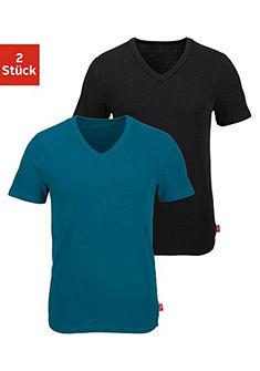 s.Oliver RED LABEL Formujúce tričko s výstrihom do Vs(2 ks) s farebným pásom