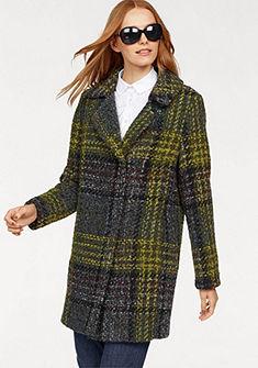 FUCHS SCHMITT Vlněný kabát v módním károvaném vzoru