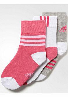 Adidas Dětské ponožky s pohodlnou manžetou (3 páry)