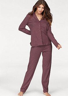 SCHIESSER Pyžama v klasickej forme s golierom a gombíkom