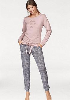 SCHIESSER pizsama »Natural Shades« szatén megkötővel