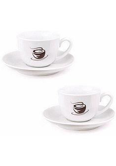 VIVO VILLEROY & BOCH GROUP eszpresszó csésze szett, kemény porcelán, 4 részes, »HOT BASICS«