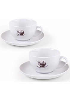 VIVO VILLEROY & BOCH GROUP tejeskávé csésze szett, kemény porcelán, 4 részes, »HOT BASICS«