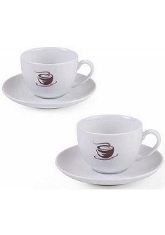 VIVO VILLEROY & BOCH GROUP Sada šálků na cappuccino  , porcelán, 4-dílná »HOT BASICS«