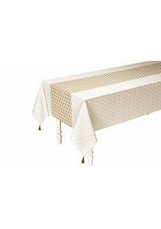 heine home asztalterítő nyomott mintával és rojttal