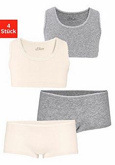 s.Oliver RED LABEL Bodywear Krátký top + bederní kalhotky (4 ks)