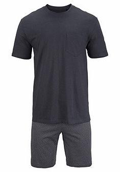 Schiesser Krátka pyžama s vreckami