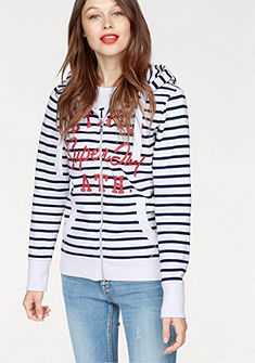 Superdry Mikina »STATE ATH STRIPE ZIPHOOD«