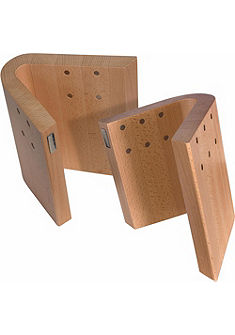 arte legno Magnetický blok na nože, bukové drevo »Curva«
