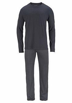 Schiesser hosszú pizsama mintás nadrággal