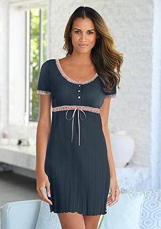 LASCANA Noční košilka s krásným ažurovým vzorem
