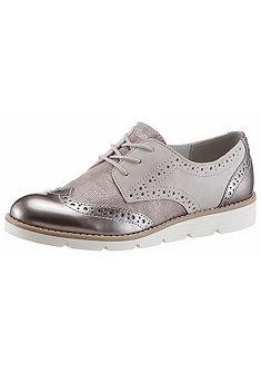 s.Oliver RED LABEL fémes hatású fűzős cipő, lyukacsos mintával