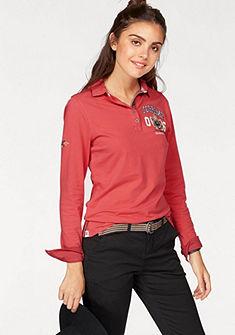 Tom Tailor Polo Team Tričko s dlhými rukávmi, s kontrastnými detailmi na golier a manžetách