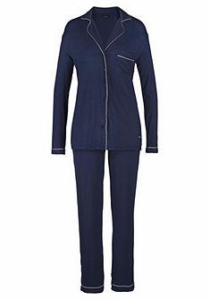 LASCANA Pyžamo s límečkem a knoflíkovou légou