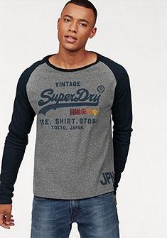 Superdry Tričko s dlouhými rukávy »SHIRT SHOP SURF RAGLAN L/S TEE«