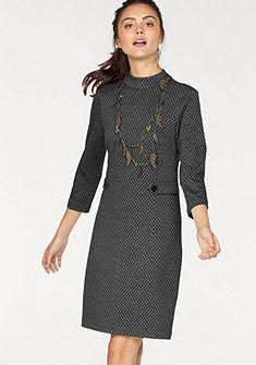 Tom Tailor egyenes szabású ruha trendi jacquard mintával