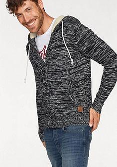 Jack & Jones Pletený svetr s kapucí »TEDDY KNIT ZIP HOOD«