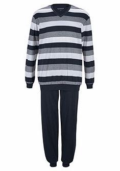 Schiesser Dlouhá pyžama pruhová