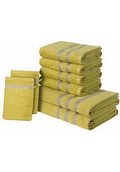 Souprava ručníků, my home »Levina« s bordurou, 8-dílné
