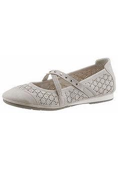 Supremo pántos balerina cipő gumis pánttal és strassz kövekkel