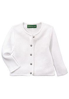 Country Line Dětský svetr s kulatými knoflíky a krojovým vzorem
